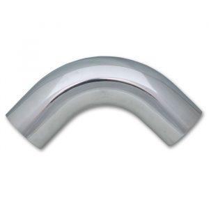 "4.5"" O.D. Aluminum 90 Degree Bend - Polished"
