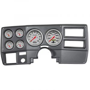 Autometer Ultra-Lite 73-83 Chevy Truck/Suburban Dash Kit 6pc Tach / MPH / Fuel / Oil / WTMP / Volt