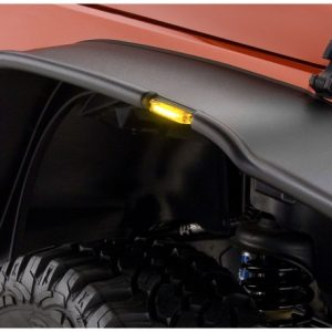 Bushwacker 07-18 Jeep Wrangler Flat Style Flares 2pc - Black