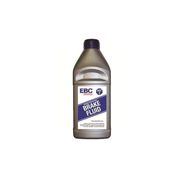 1 liter bottle of EBC Brakes DOT-4 glycol fluid.