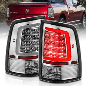 ANZO 2009-2018 Dodge Ram 1500 LED Taillight Plank Style Chrome w/Clear Lens