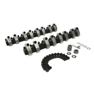 Shaft-Mount Aluminum 1.6/1.5 Ratio Rocker Kit for Pontiac and SBC w/ Brodix