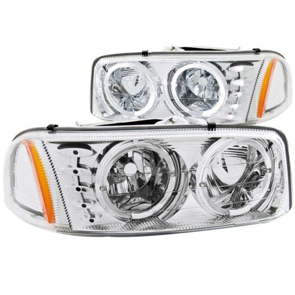 ANZO USA Crystal Headlight Set w/Halo