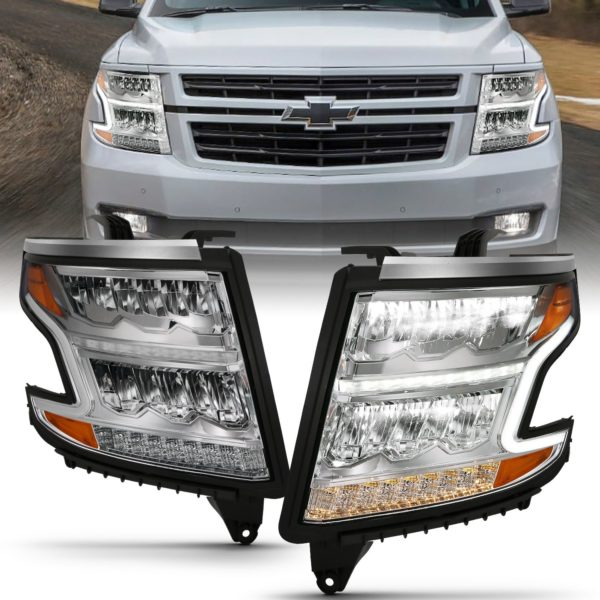 ANZO USA LED Crystal Headlights