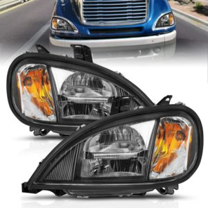 ANZO USA Commercial Truck LED Crystal Headlight Set