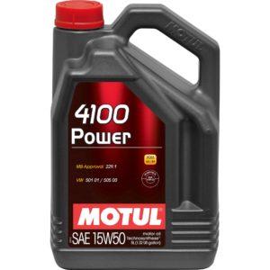 Motul 4100 POWER 15W50 - 5L - Technosynthese Oil