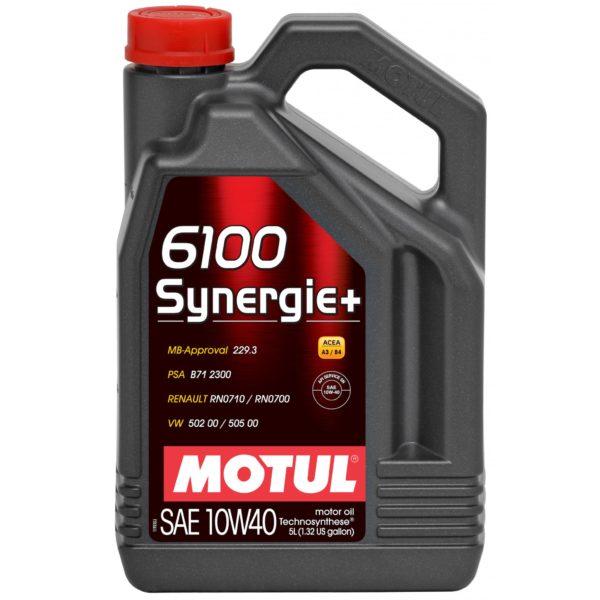 Motul 6100 SYNERGIE+ 10W40 - 5L - Technosynthese Oil