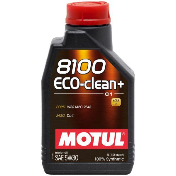 Motul 8100 ECO-CLEAN+ 5W30 - 1L - Synthetic Engine Oil