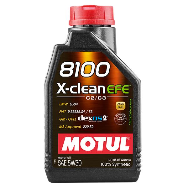 Motul 8100 X-CLEAN EFE 5W30 - 1L - Synthetic Engine Oil