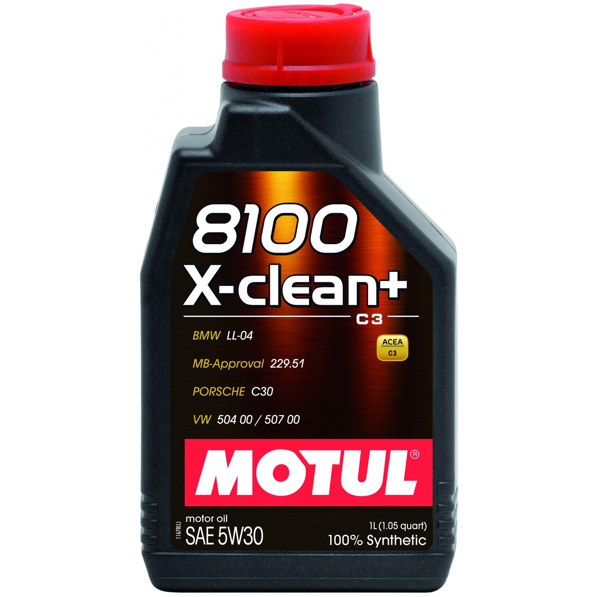 Motul 8100 X-CLEAN + 5W30 - 1L - Synthetic Engine Oil