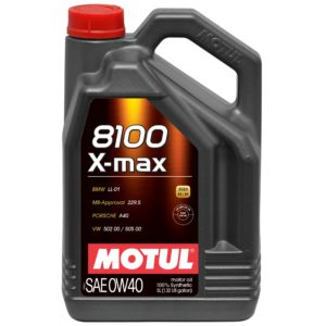 Motul 8100 X-MAX 0W40 - 5L - Synthetic Engine Oil