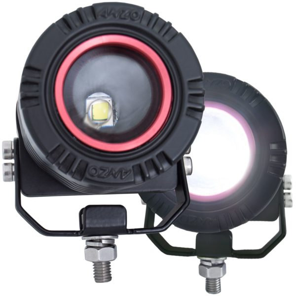 Anzo USA Adjustable Round Light With wire Harness