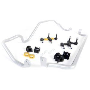 Whiteline BSK013 Front and Rear Sway Bar Vehicle Kit; Fits Subaru Legacy 00-04