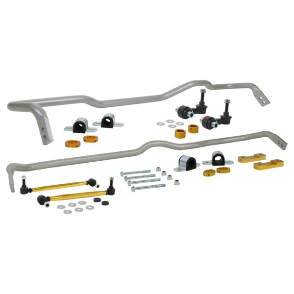Whiteline BWK019 Front (26mm) and Rear (24mm) Swaybar Kit; fits Audi A3 Quattro 15-19