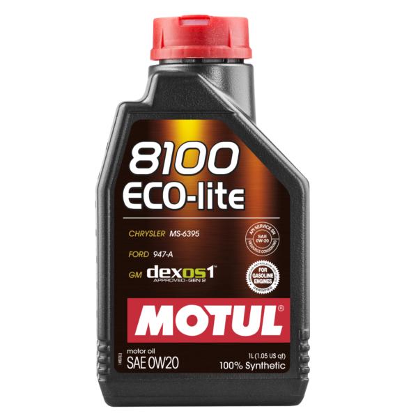 Motul 8100 ECO-LITE 0W20 - 1L - Synthetic Engine Oil